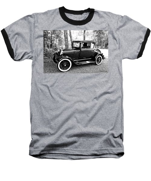 Model A In Black And White Baseball T-Shirt