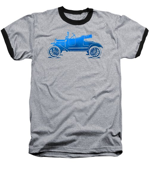 Model T Roadster Pop Art Blue Gradient Baseball T-Shirt