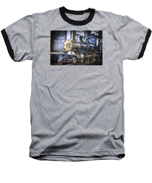 Model Train Baseball T-Shirt by Scott Hansen