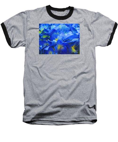 Baseball T-Shirt featuring the photograph Modern Art - Floral In Blue by Merton Allen
