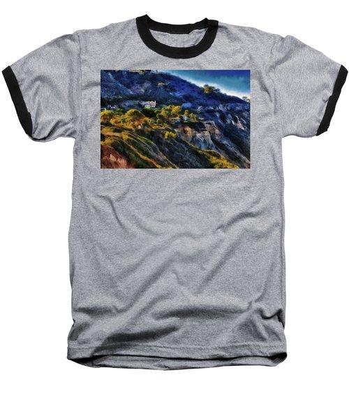 Modern Cliff Dwellers Baseball T-Shirt by Joseph Hollingsworth
