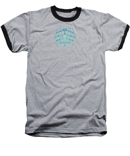 Modern Fashion Abstract Color Pattern In Blue   Green Baseball T-Shirt