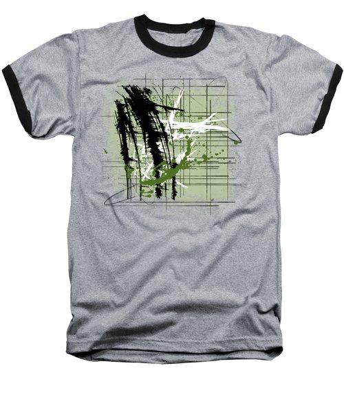 Modern Green Baseball T-Shirt by Melissa Smith