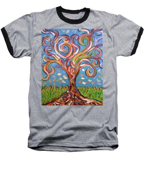 Modern Impasto Expressionist Painting  Baseball T-Shirt