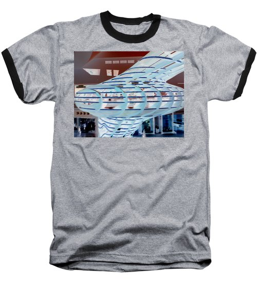 Ghostly Shopping Mall Baseball T-Shirt