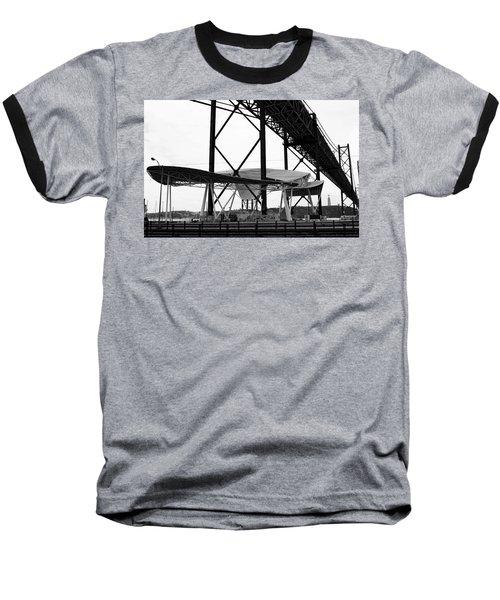Modern Mass Transit Baseball T-Shirt by Lorraine Devon Wilke
