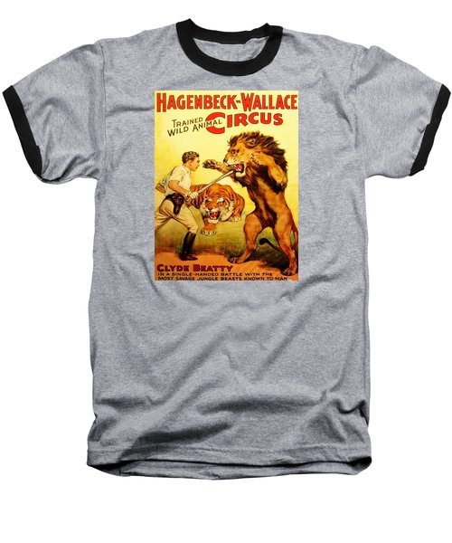 Baseball T-Shirt featuring the digital art Modern Vintage Circus Poster by ReInVintaged