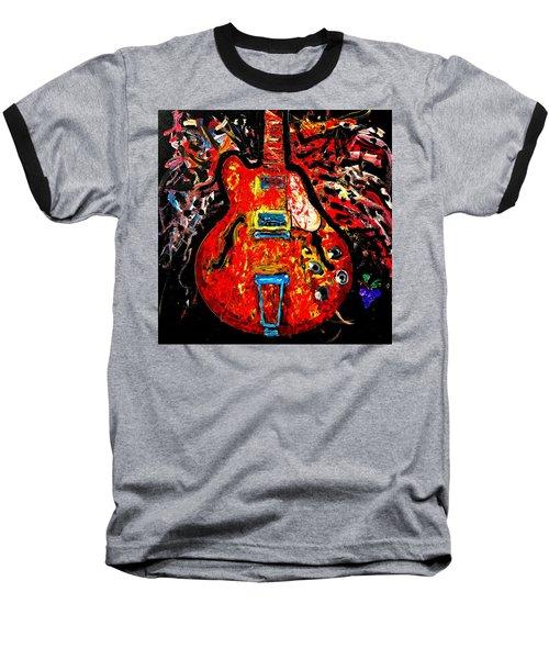 Modern Vintage Guitar Baseball T-Shirt