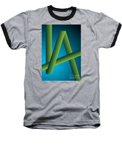 Baseball T-Shirt featuring the digital art Modus by Leo Symon