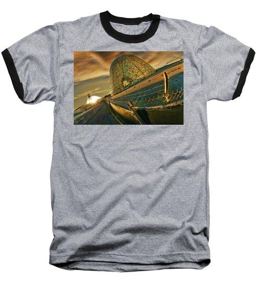 Moffett Field Hangar One At Dusk Baseball T-Shirt