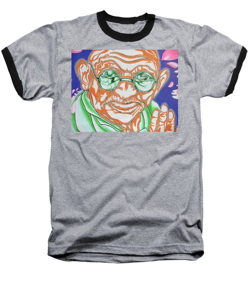 Baseball T-Shirt featuring the photograph Mohandas Karamchand Gandhi  by Juergen Weiss