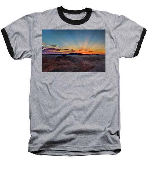 Mohave Sunrise Baseball T-Shirt by Mark Dunton
