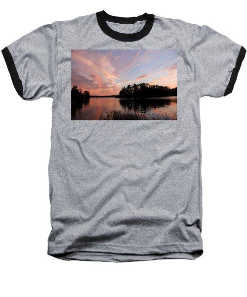 Mohawk Island Aglow Baseball T-Shirt