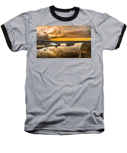 Mohegan Sun Sunset Baseball T-Shirt by Petr Hejl
