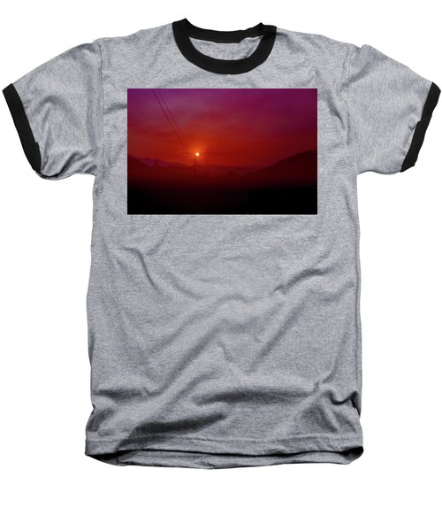 Mojave Sunrise Baseball T-Shirt by Mark Dunton