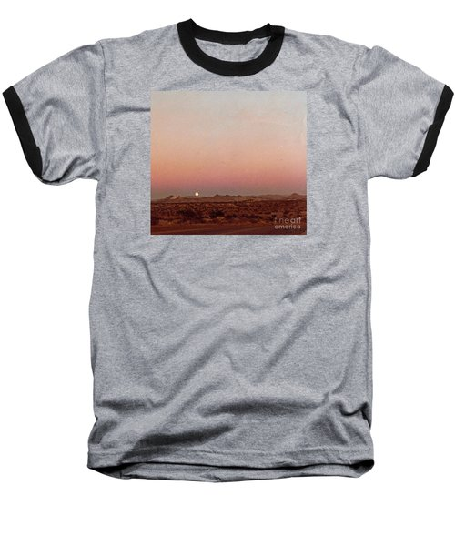 Baseball T-Shirt featuring the digital art Mojave Sunset by Walter Chamberlain