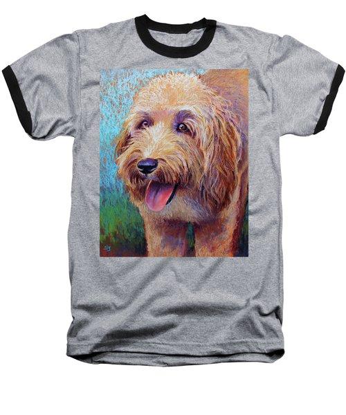 Mojo The Shaggy Dog Baseball T-Shirt