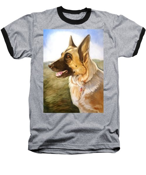 Baseball T-Shirt featuring the painting Mollie by Marilyn Jacobson