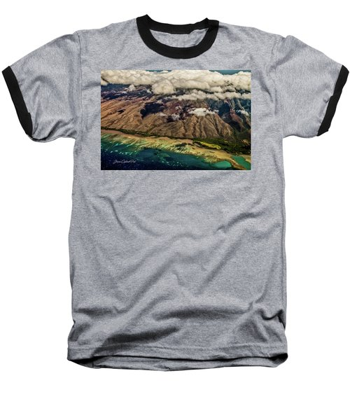 Molokai From The Sky Baseball T-Shirt by Joann Copeland-Paul