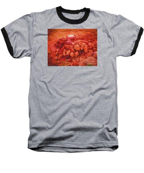 Molten Boulders  ... Baseball T-Shirt by Chuck Caramella