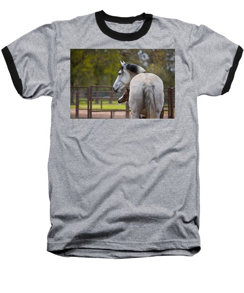 Baseball T-Shirt featuring the photograph Mom And Baby by Sharon Jones