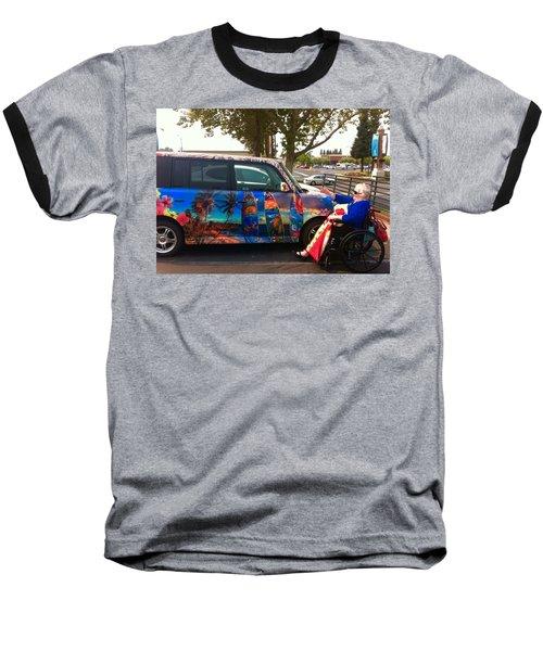 Mom Loves Surf Car Baseball T-Shirt