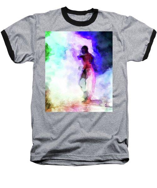 Moment In Blue - African Dancer Baseball T-Shirt