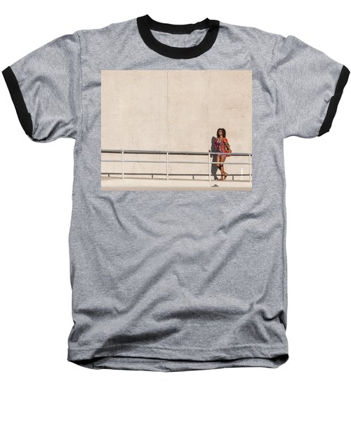 Baseball T-Shirt featuring the photograph Moment In The Sun by Alex Lapidus