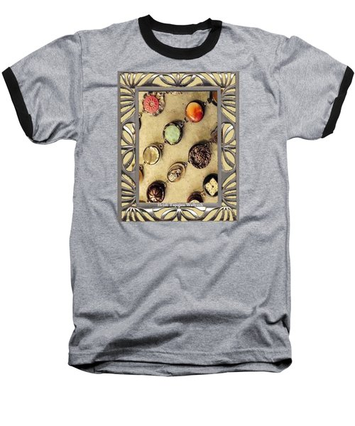 Baseball T-Shirt featuring the mixed media Moments In Time Bracelet Art by Heidi Walkush