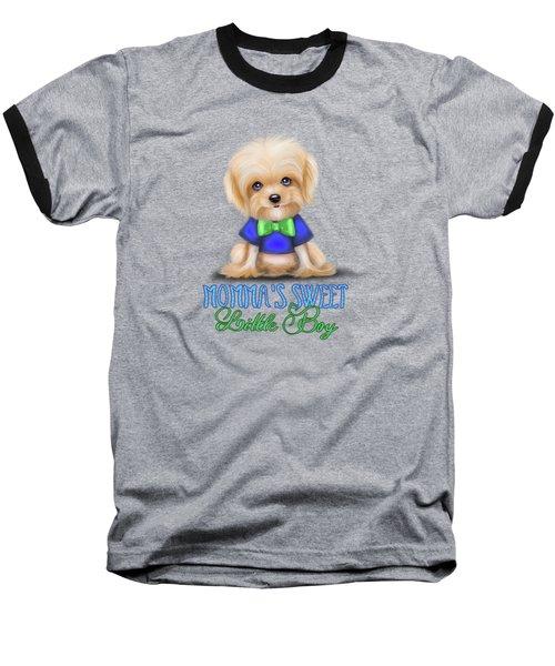 Mommas Sweet Little Boy Baseball T-Shirt by Catia Cho