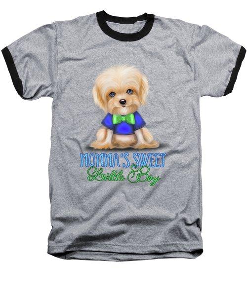 Mommas Sweet Little Boy Baseball T-Shirt