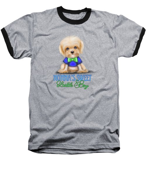 Mommas Sweet Little Boy Baseball T-Shirt