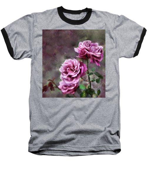 Baseball T-Shirt featuring the digital art Moms Roses by Susan Kinney
