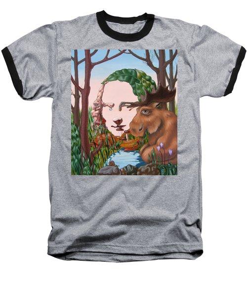 Mona Lisa . Earth Baseball T-Shirt