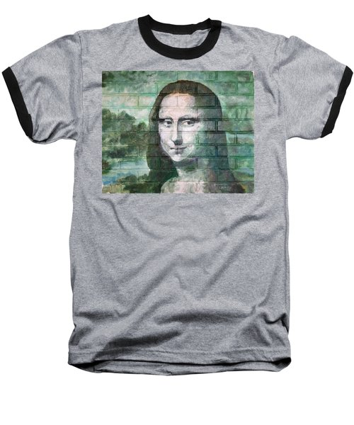 Baseball T-Shirt featuring the painting Mona Lisa  by Stan Tenney