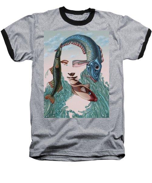 Mona Lisa. Water Baseball T-Shirt