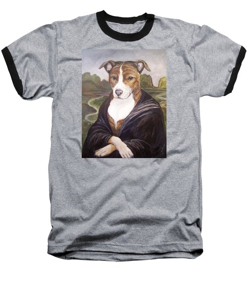 Baseball T-Shirt featuring the painting Mona Pitta by Laura Aceto