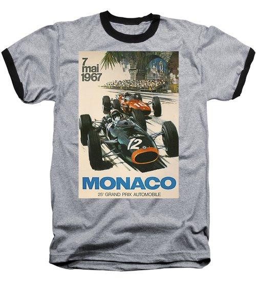 Monaco Grand Prix 1967 Baseball T-Shirt