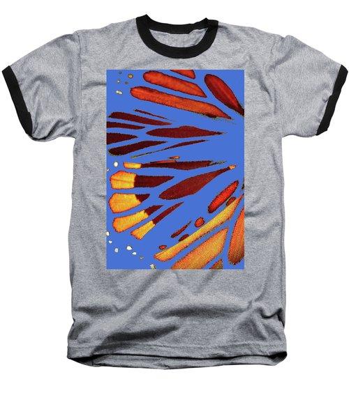 Monarch Abstract Blue Baseball T-Shirt
