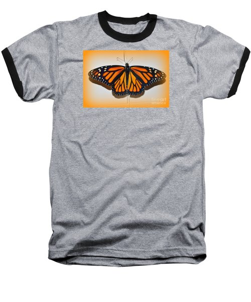 Monarch Beauty Baseball T-Shirt by Lew Davis