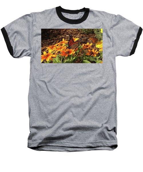 Monarch Butterflies Baseball T-Shirt