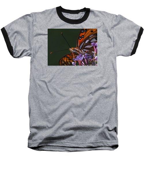 Monarch Butterfly Closeup Baseball T-Shirt