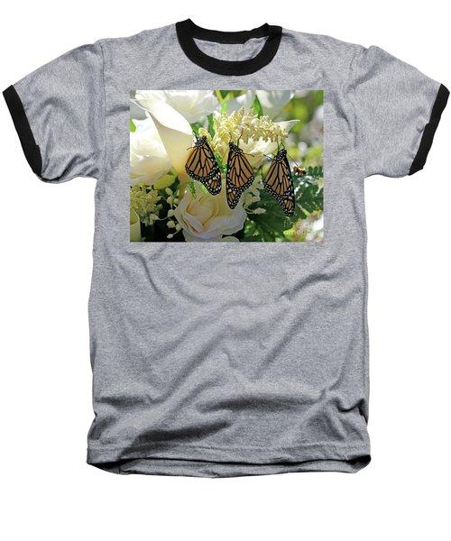 Monarch Butterfly Garden  Baseball T-Shirt by Luana K Perez
