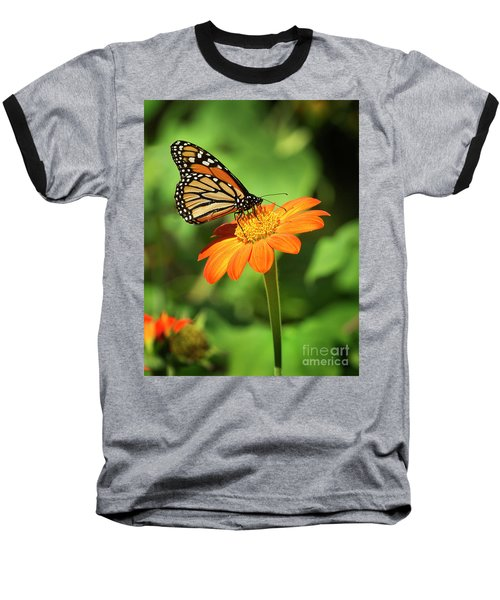 Monarch Butterfly II Vertical Baseball T-Shirt