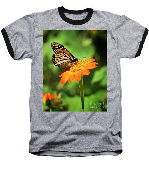 Monarch Butterfly II Vertical Baseball T-Shirt