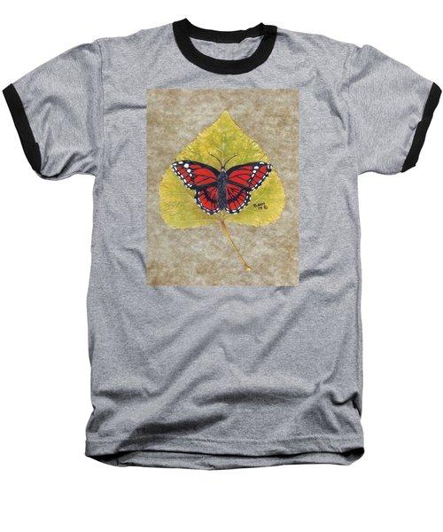 Monarch Butterfly Baseball T-Shirt by Ralph Root