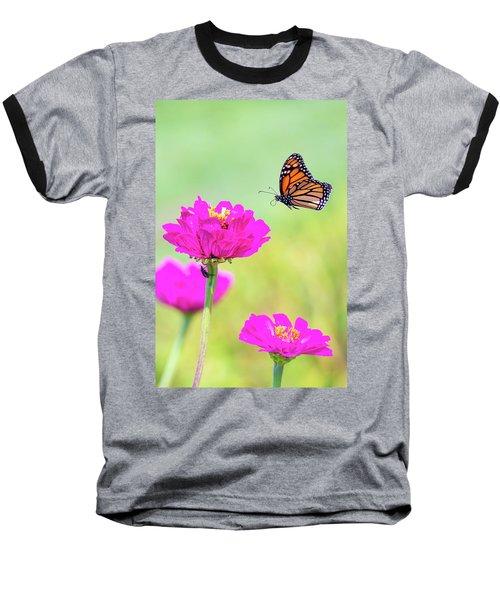 Monarch In Flight 1 Baseball T-Shirt