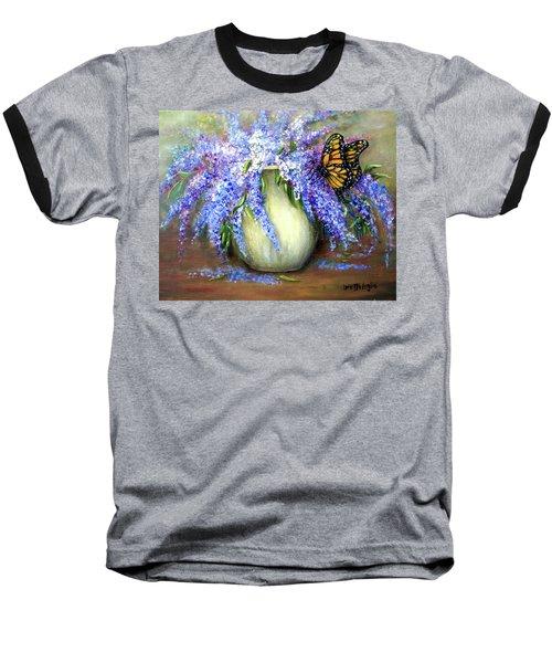 Monarch Of The Lilacs Baseball T-Shirt
