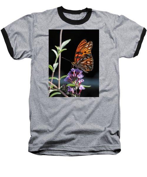 Monarch On Butterfly Bush Baseball T-Shirt