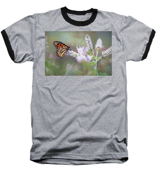 Baseball T-Shirt featuring the photograph Monarch On Mint 1 by Lori Deiter